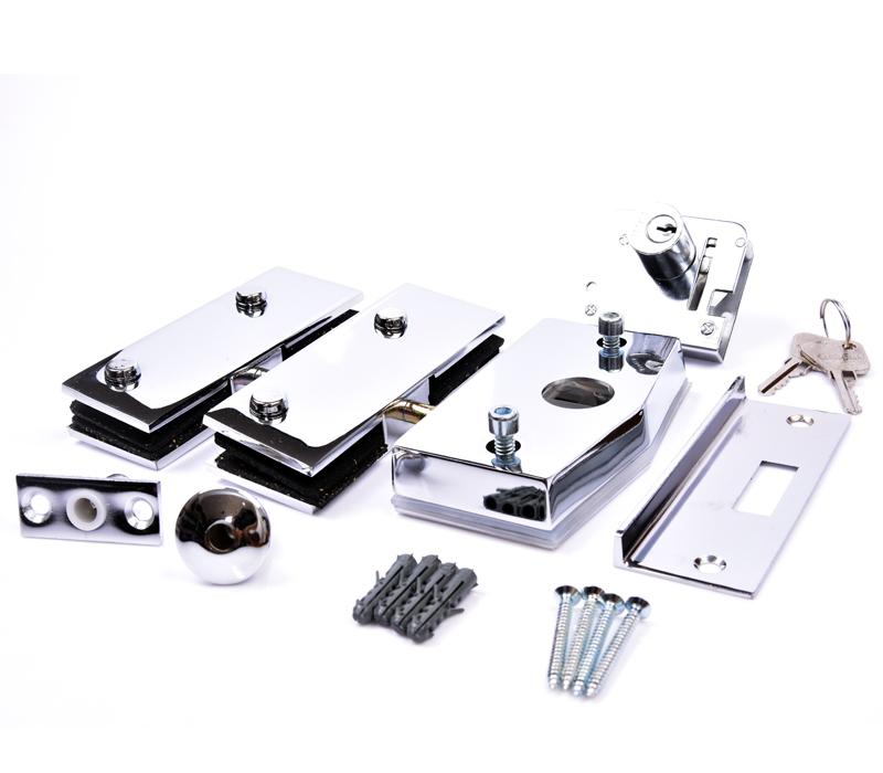 Kit 01B - Porta simples pivotante modelo blindex