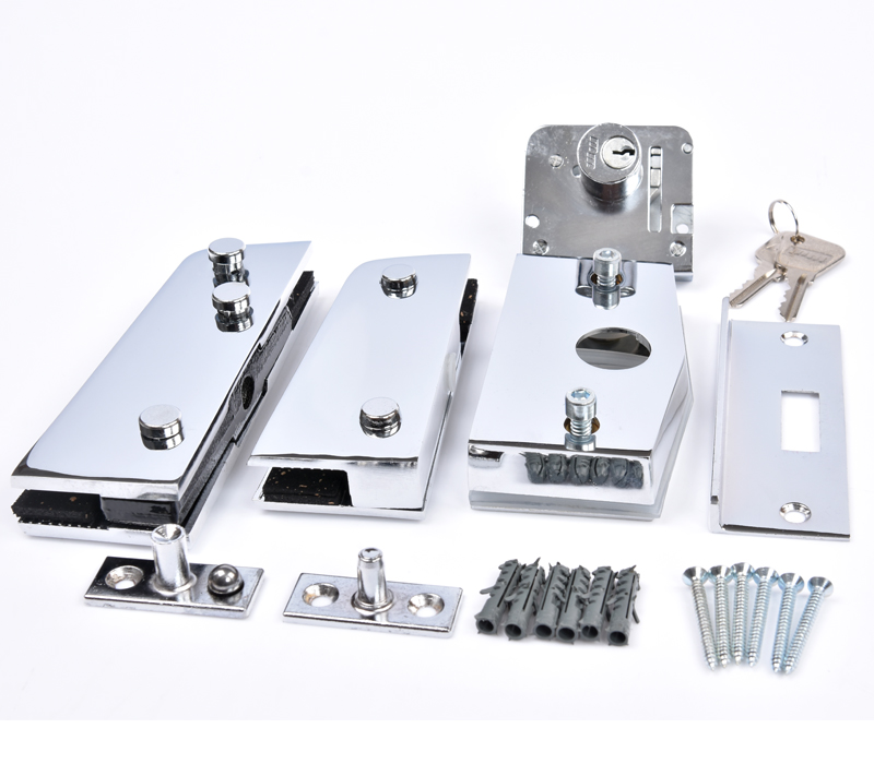 Kit 01FB - Porta simples pivotante com fechadura blindex